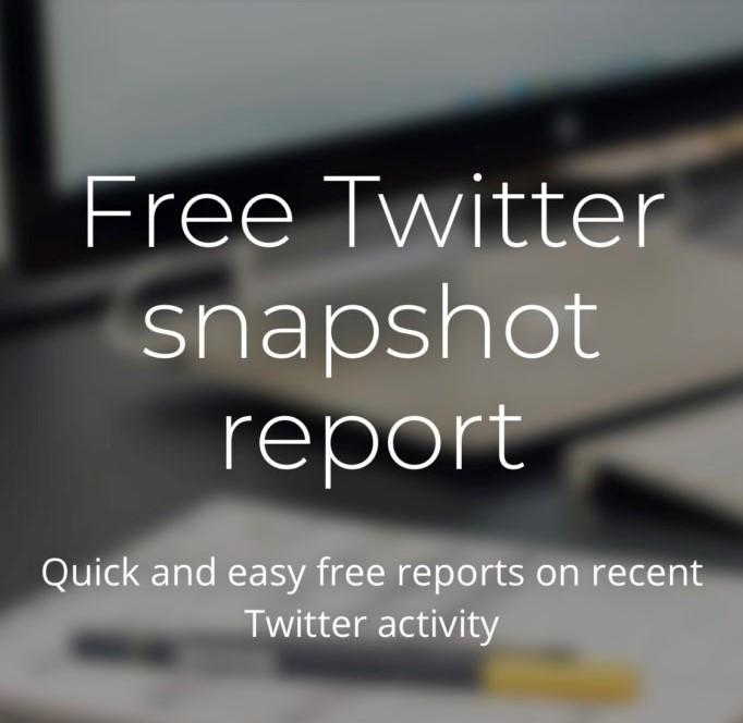 Free Twitter snapshot report
